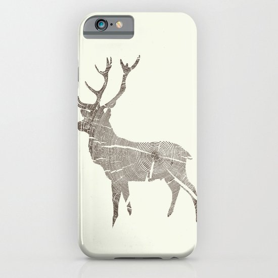Wood Grain Stag iPhone & iPod Case