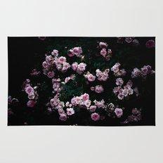 rose in the dark 01 Rug