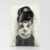 audrey cat Stationery Cards
