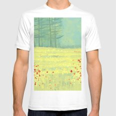Meadow near Périgueux SMALL Mens Fitted Tee White