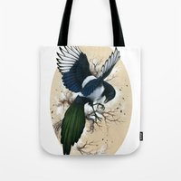 Resplendent Magpie Tote Bag