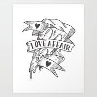 PIZZA LOVE AFFAIR Art Print