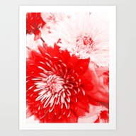Bouquet In Red, White An… Art Print