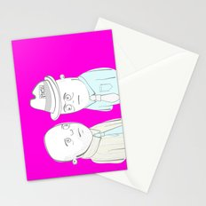 News Reporters Staring Contest Stationery Cards