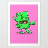 Slime Log Art Print