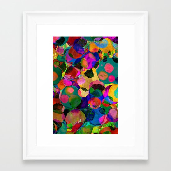 Rainbow Spot Framed Art Print