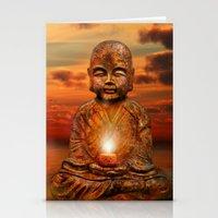 buddha Stationery Cards featuring Buddha by teddynash
