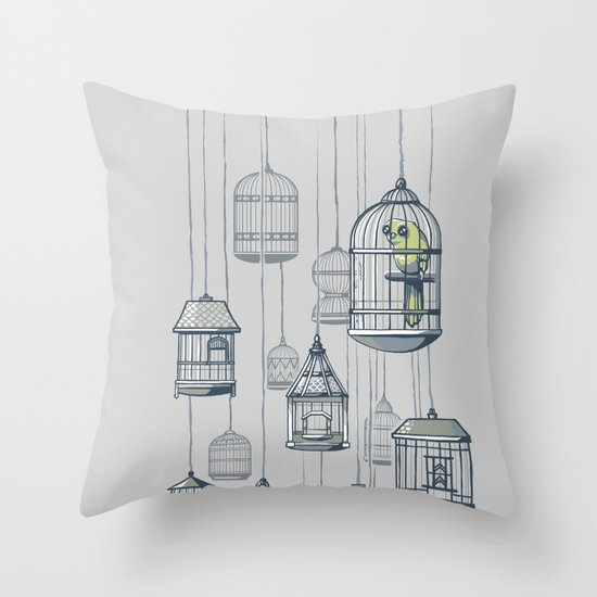 Last Bird in the Shop Throw Pillow