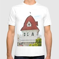 Beach Hut (I) Mens Fitted Tee White SMALL