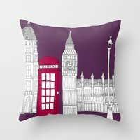 Night Sky // London Red … Throw Pillow