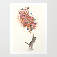 Catching Butterflies Art Print