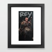 Rey Framed Art Print