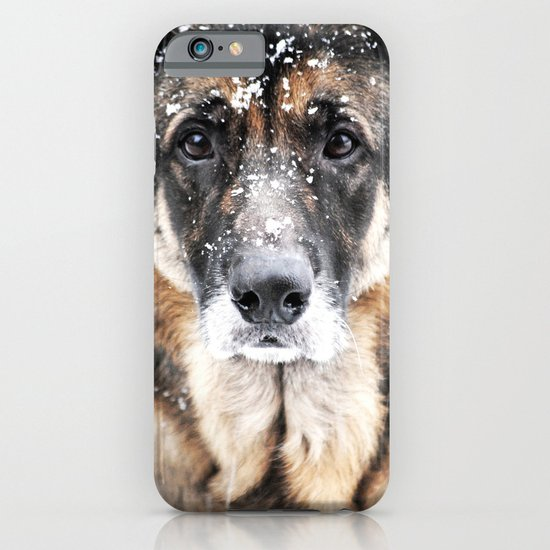 GERMAN SHEPHERD IN THE SNOW iPhone & iPod Case