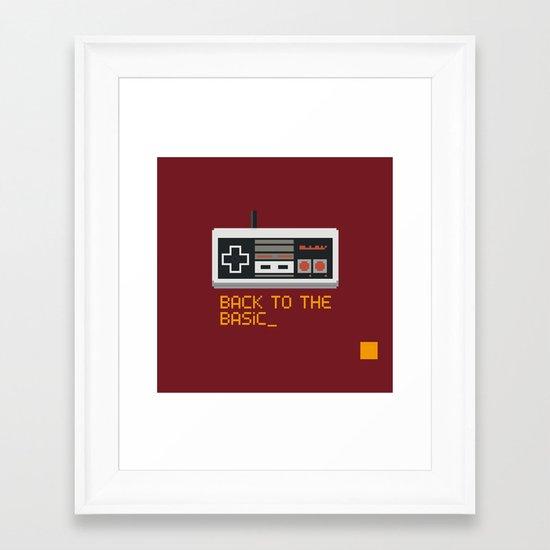 back to the basic_  Framed Art Print