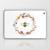 Bee with Flowers Laptop & iPad Skin