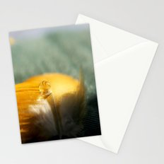 Yellow Feather Drop Stationery Cards