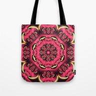 Fantasy Flower Kaleidosc… Tote Bag