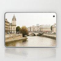 Le Seine River In Paris. Laptop & iPad Skin