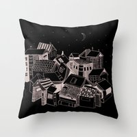 Book Town Throw Pillow