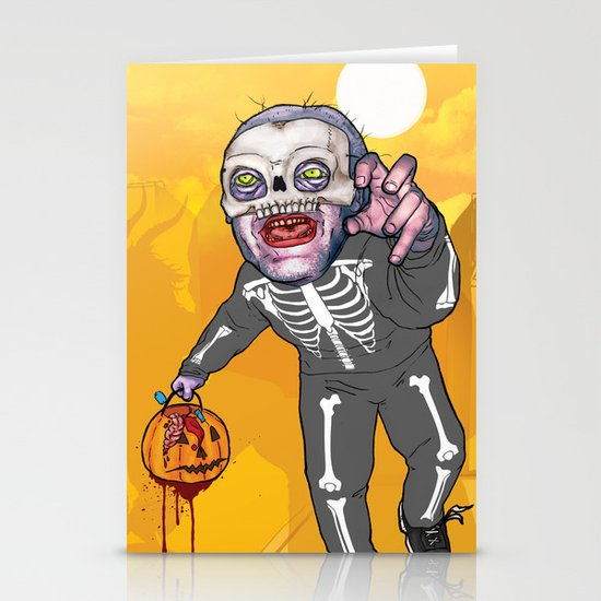 Trick or Tremble Stationery Card