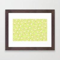 Wallflower - Butter Yellow Framed Art Print