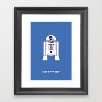 Star Wars Minimalism - R2D2 Framed Art Print