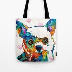 Colorful Chihuahua Art by Sharon Cummings Tote Bag