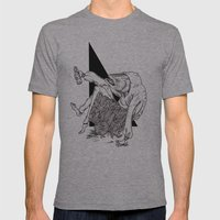 Fish Mens Fitted Tee Athletic Grey SMALL