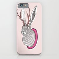 iPhone Cases featuring Deer Rabbit by Andrea Forgacs