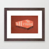 Whitewashed Tombs (by Kyle Steed) Framed Art Print