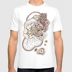 Tangled roots White Mens Fitted Tee SMALL