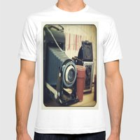 Thrift Store Camera Mens Fitted Tee White SMALL