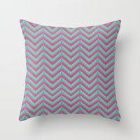 Hot Pink & Mint Throw Pillow