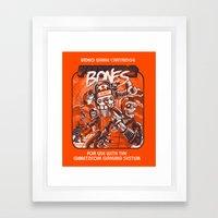 Future Bones Framed Art Print