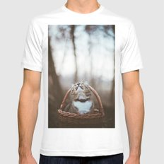 Cat in a basket Mens Fitted Tee White SMALL