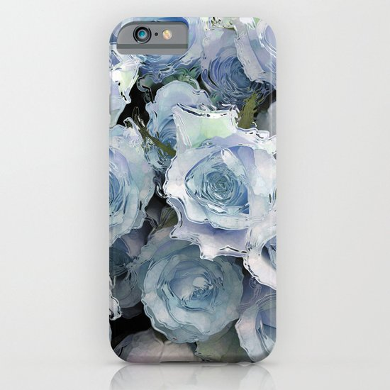 Ice Blue Roses iPhone & iPod Case