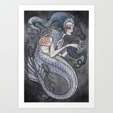 The Siren And The Seahor… Art Print