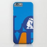Robot LOVE - Blue iPhone 6 Slim Case