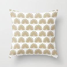 White & Tan Daisies Throw Pillow