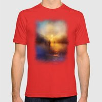Light Echoes Mens Fitted Tee Red SMALL