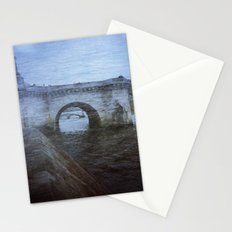 Paris Bridge & Seine Holga Double Exposure Stationery Cards
