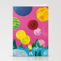 BUBBLE PLANET Stationery Cards