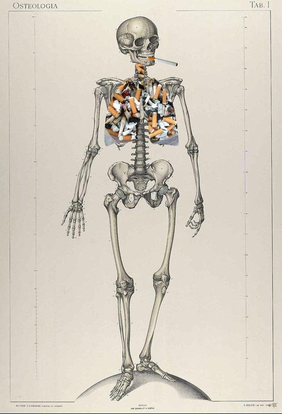 Skeletons Smoking Art Print