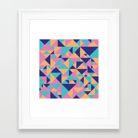 Triangular Framed Art Print
