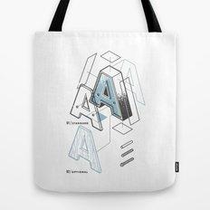 The Exploded Alphabet / A Tote Bag