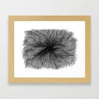 Jellyfish Large B&W Framed Art Print