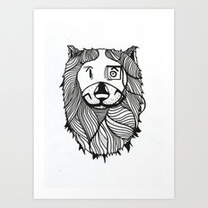 Lion 2 Sketch Art Print