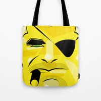 Post it portrait: Nick Fury     Tote Bag