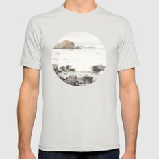 Crash Into Me Mens Fitted Tee Silver SMALL