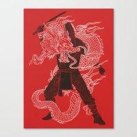 Dragon Ninja Canvas Print